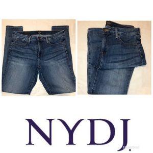 NYDJ Ami Skinny LiftXTuck Blue Jeans Size 8